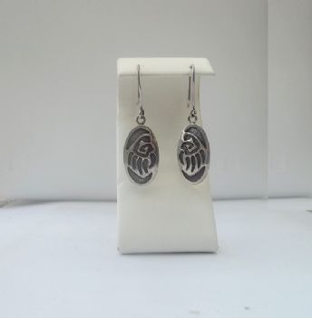 Hopi Style Paw Print Earrings